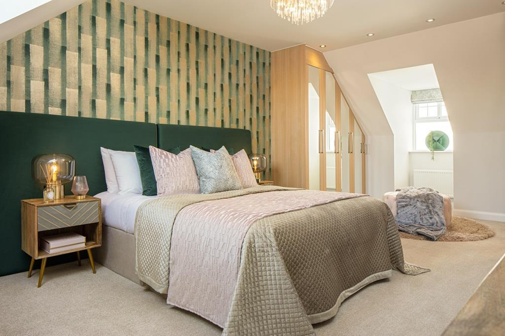 Plot 2 Stambridge Master bedroom with en suite