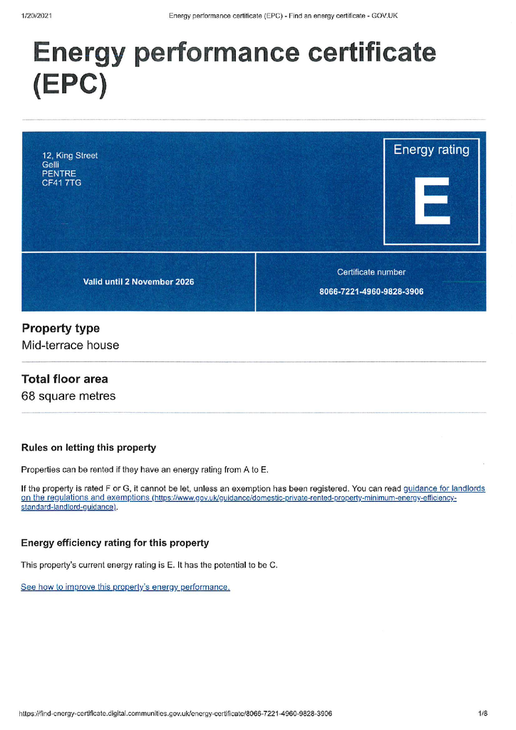 Property EPC Reports