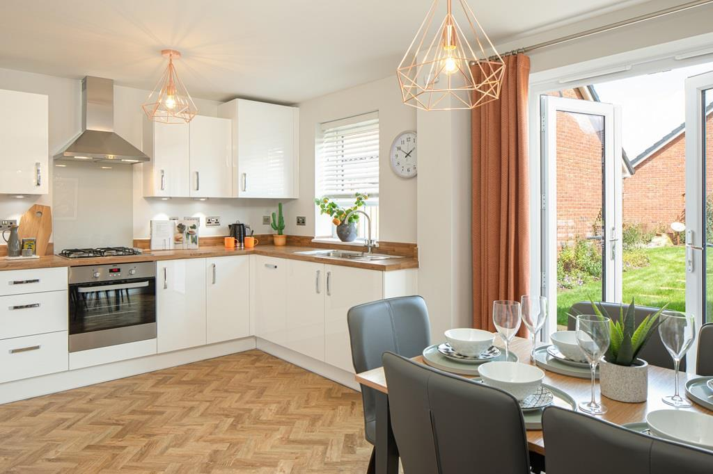 Inside view of the Maidstone kitchen 3 bedroom home