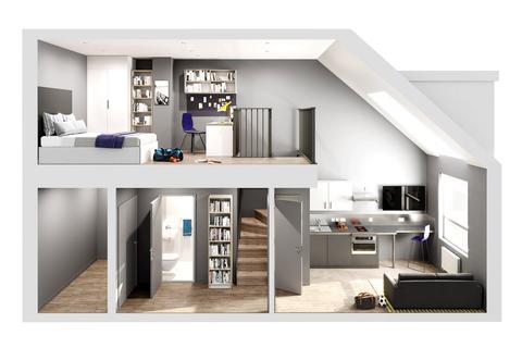 Studio to rent - Bampfylde Str., Exeter