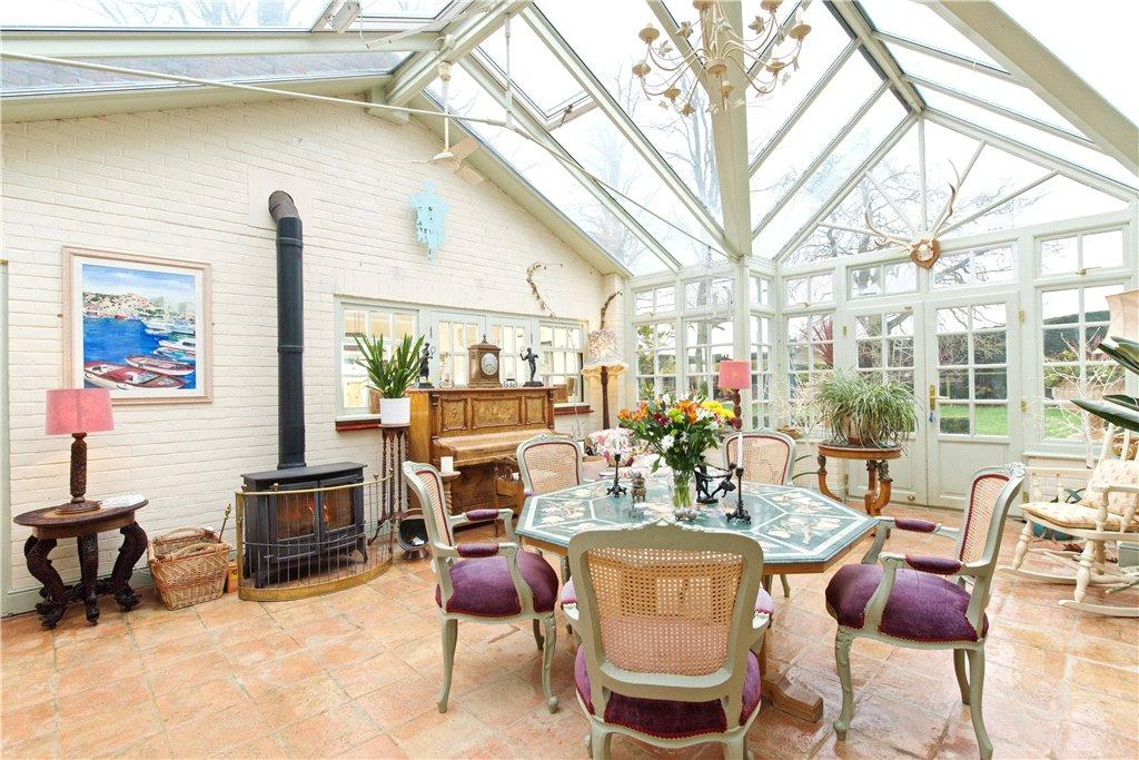 A reception room at Tyringham House