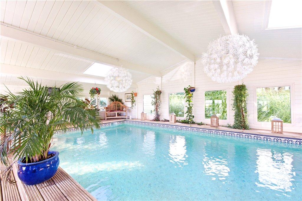 Swimming pool at Tyringham House