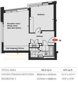 1 bedroom apartment to rent - Kensington High Street, London W14