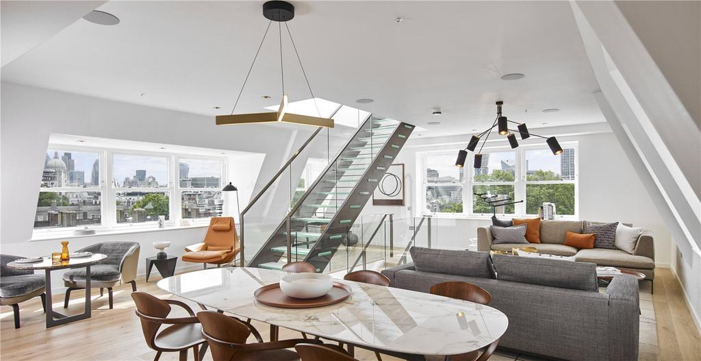 4 Bedrooms Penthouse Flat for sale in Aldwych Chambers, Temple, WC2R